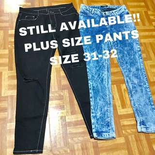 PLUS SIZE DENIM PANTS (take it all)