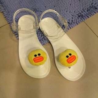 🚚 Line小雞拖鞋果凍涼鞋夾腳拖
