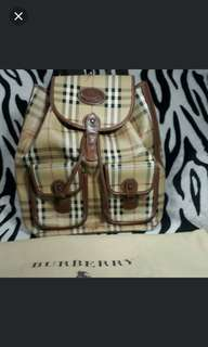Burberry Large 2 Pocket Backpack