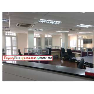 Bright Spacious Corner unit Fitted Shophouse Office in Outram/ Cantonment