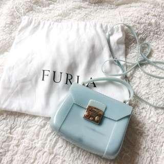 Furla Jelly Mini Baby Blue Sling Bag