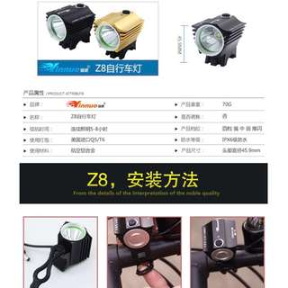 Brand New Lumen LED Bicycle Light Set with Power Bank operated Included