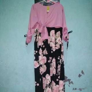 Gamis Pink-black