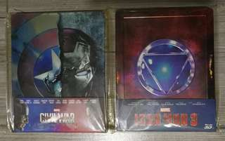 Iron man 3, Captain America 3 (美國隊長 3)Bluray steelbook 主要想換戲