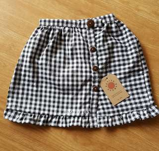 [NEW] Petite Hooman gingham skirt