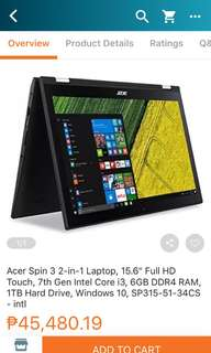 acer spin3 laptop