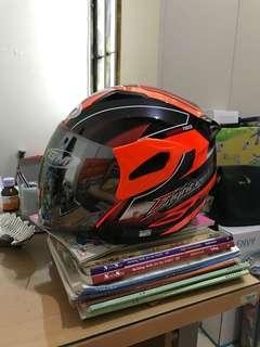 Helm GM Fighter Orange Hitam