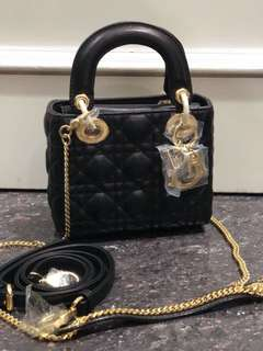 SALE‼️ mini lady dior 17cm mirror replica bag