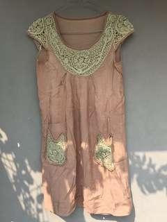 Dress wanita cokelat