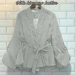 Vita kimono katun