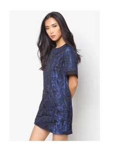 Zalora Jacquard Shift Dress