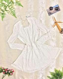 White Lace Dress (open Back)