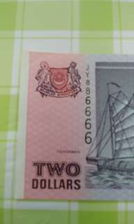 Binary, double . $2( purple)Boat series AU note 1pc.