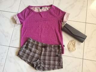 Oakley shirt and H & M short combo