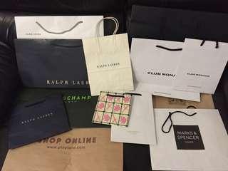 大中小品牌紙袋