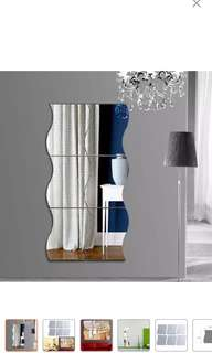 Wave Arcylic Wall Mirror Sticker