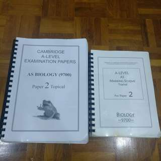 Cambridge A Level AS Past Years, Coursebook and Practice Books