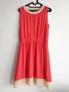 Dress Orange Merah Salmon