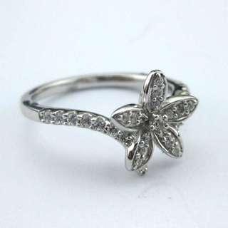 23份高碳鑽純銀戒指