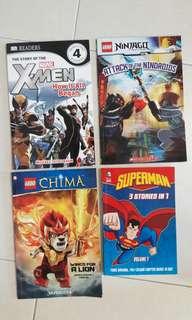 Lego Superman Marvel Story books