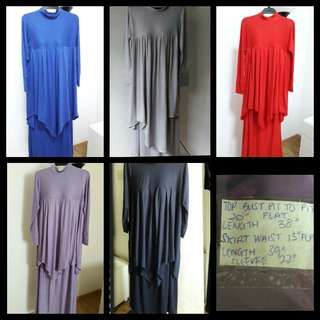 Muslimah jubah skirt suit
