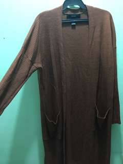 Forever 21 cardigan brown