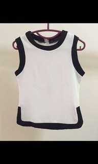 SALE white ft black tops