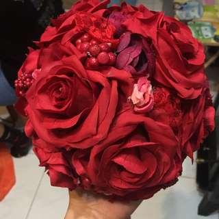 玫瑰攔門花球