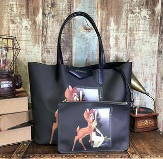 Givenchy 43cm tote bag with 23cm pouch bag (100% authentic, 80% new)