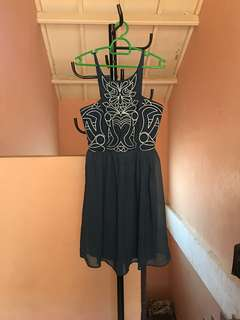 HOLLYHOQUE Cyanide Embroided Dress
