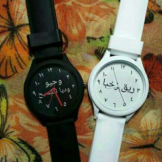 Jam tangan costum bisa pake nama.