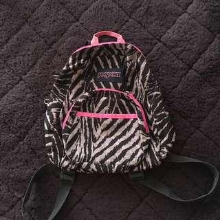 Mini Jansport Backpack (Zebra print)