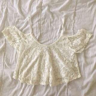 Lace Off-Shoulder Top - Cotton On