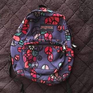 Jansport Backpack (Peace Symbol)