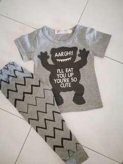Tshirt & pant Baby Monster