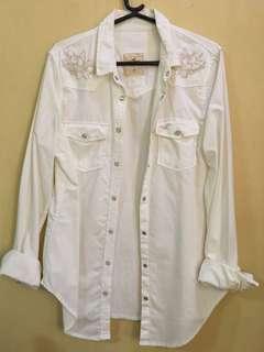 Pre loved Cream Hollister long sleeves