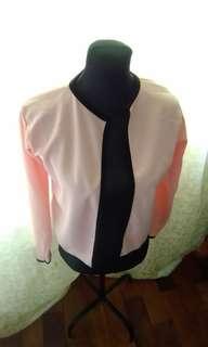 Pink semi formal coat