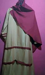 Gamis anak set / baju muslim anak