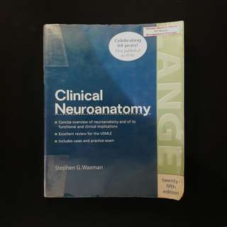 Clinical Neuroanatomy 25th Ed. - Lange, Waxman