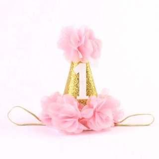 🚚 Instock - 1st birthday hat, baby infant toddler girl children cute glad 123456789 lalalalala