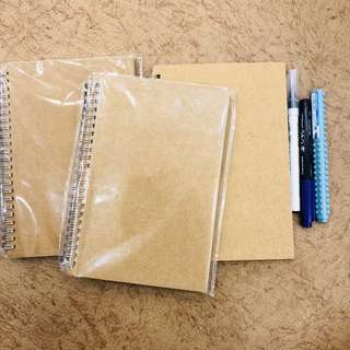 A5 Kraft Cover Grid Notebooks