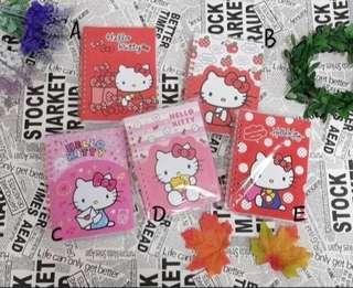 🚚 三麗鷗HELLO KITTY凱蒂貓造型夾袋筆記本 記事本 記錄本