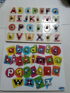 Alphabet Puzzle Upper and lower case letters
