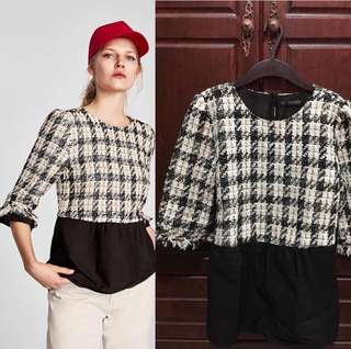Zara Tweed Top Brand New With Tag!
