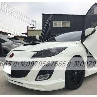 專辦全額貸 零元可交車 2010  馬自達汽車 M3  2.0 白色 自排