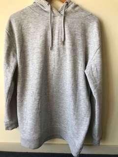 Extra long grey hoodie