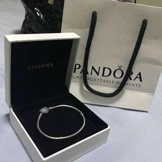 Preloved Pandora Pave Heart Bracelet