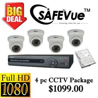 SafeVue 1080P IP CCTV Package 4 ****