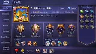 Mobile Legend acc (IOS)