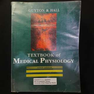 Textbook of Medical Physiology 9th ed. - Guyton and Hall